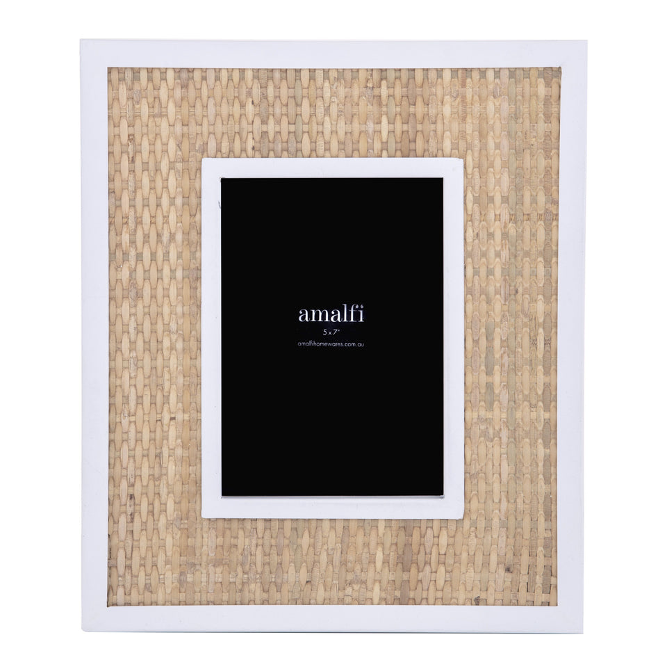 Walker Metal and Rattan Photo Frame