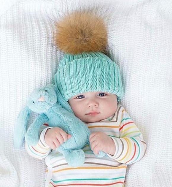 ... Mom and baby matching fur beanies ... d1f31ccc303