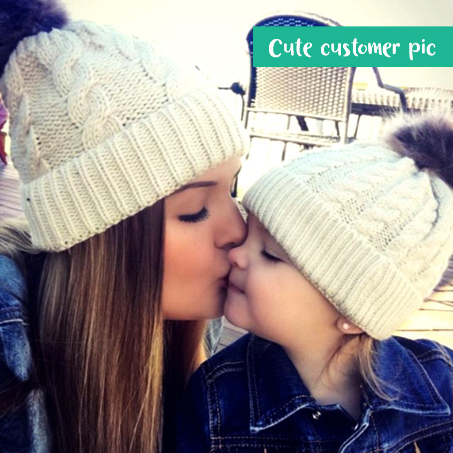 08eb74c2c Mom and baby matching fur beanies | Camp Cute