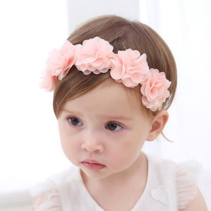 Pink Flower Headband Camp Cute