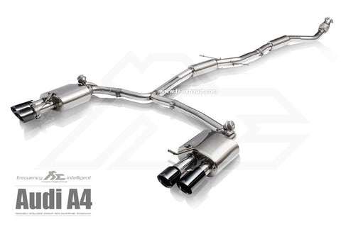 FI Exhaust Audi A4 / A5 (B8.5) Front Pipe + Mid Y Pipe + Rear Mufflers + Quad Tips - SSR Performance
