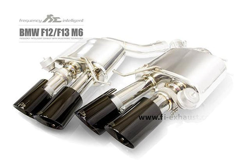 FI Exhaust BMW M6 F06 Gran Coupe Front Pipe + Mid Pipe + Valvetronic Mufflers + Quad Tips - SSR Performance