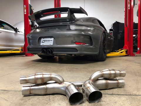 Porsche 991.1 911 GT3 / GT3RS Competition Series Center Muffler Delete - SSR Performance