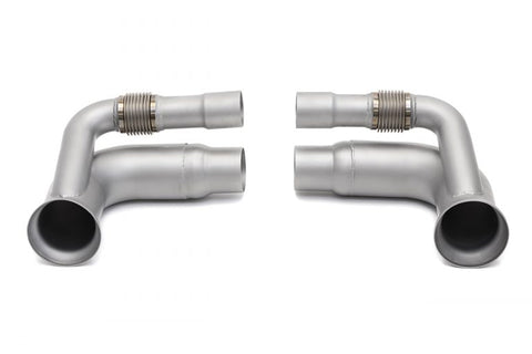 SOUL Porsche 991 GT3 / 911R Side Muffler Bypass Pipes - SSR Performance