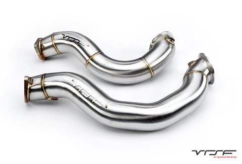 "VRSF 3"" Cast Stainless Steel Catless Downpipes V2 N54 07-10 BMW 335i / 08-10 BMW 135i - SSR Performance"