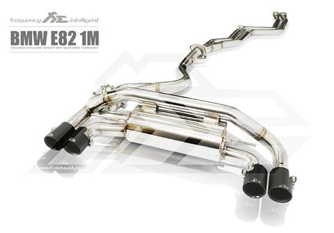 FI Exhaust BMW 1M E82 Front Pipe + Mid Pipe + Valvetronic Mufflers + Quad Tips - SSR Performance