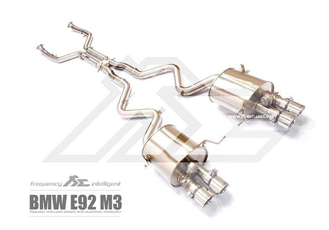 FI Exhaust BMW M3 E90/E92 Valvetronic Mufflers + Quad Tips - SSR Performance