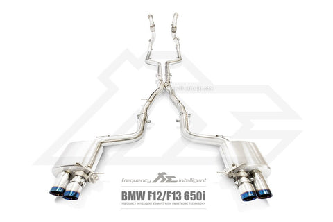 FI Exhaust BMW 650i F12/F13 Front Pipe + Mid Pipe + Valvetronic Mufflers + Quad Tips - SSR Performance