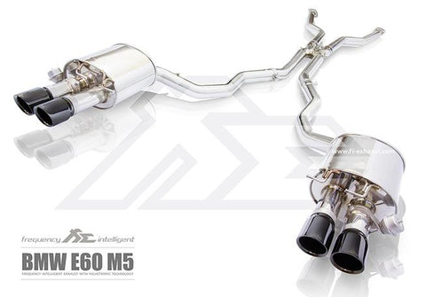 FI Exhaust BMW M5 E60/E61 Front Pipe + Mid X Pipe + Valvetronic Mufflers + Quad Tips - SSR Performance