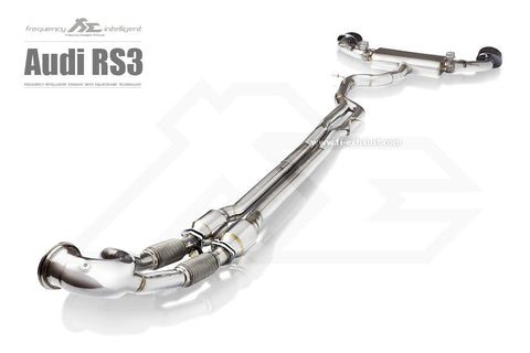 FI Exhaust Audi RS3 (8V) Sportback Ultra High Flow DownPipe + Mid Pipe + Valvetronic Mufflers + Dual Tips - SSR Performance