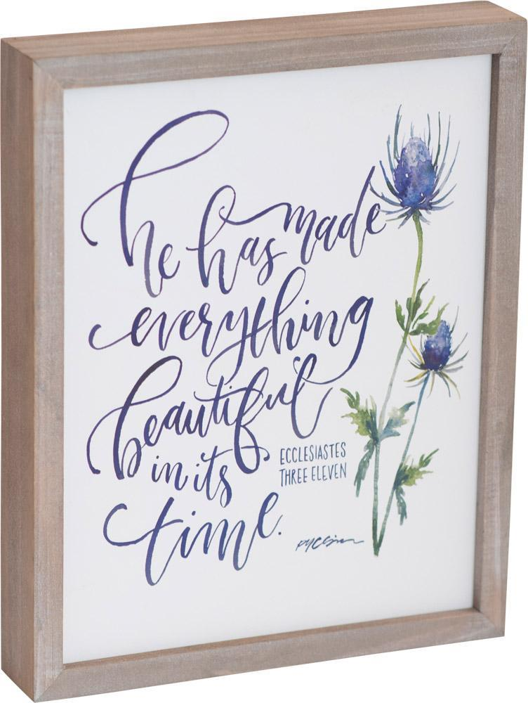 ROCKONLINE | New Creation Church | NCC | Joseph Prince | ROCK Bookshop | ROCK Bookstore | Star Vista | Home Decor | House Warming | Home Display | Home Blessings | Scriptures | Faith In God | Gifts | Floral | Tabletop Decor | Plaque | Wood Framed Plaque 8"