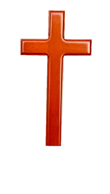 ROCKONLINE | New Creation Church | Joseph Prince | Solid Wood Wall Cross 8"