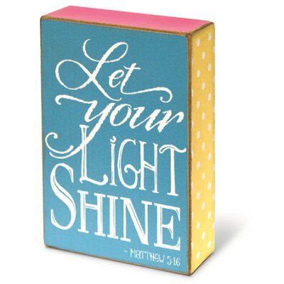ROCKONLINE | New Creation Church | NCC | Joseph Prince | ROCK Bookshop | ROCK Bookstore | Star Vista | Home Decor | House Warming | Home Display | Home Blessings | Scriptures | Faith In God | Gifts | Plaque | Wood Block - Let Your Light Shine | Free delivery for Singapore Orders above $50.