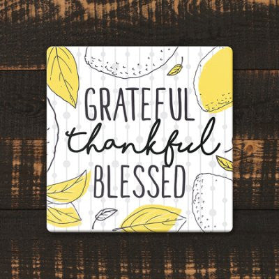 Wall Plaque – Grateful, Thankful, Blessed