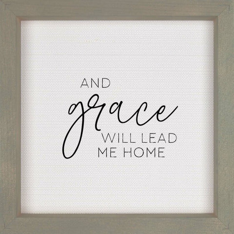 ROCKONLINE | New Creation Church | Joseph Prince | Home Decor | Plaque | Lifestyle | Christian Gifts | Framed Wall Art, 3D Texture – And Grace Will Lead Me Home