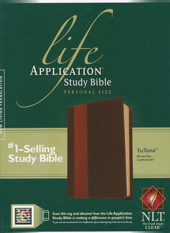 ROCKOnline | New Creation Church | Joseph Prince | The Living Word | Bible | NLT Life Application Study Bible, Leatherlike Brown & Tan | Free delivery for Singapore Orders above $50