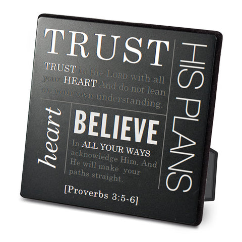 Faith Series || Metal Tabletop Plaques