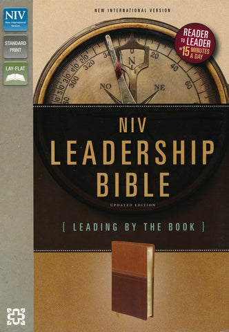 ROCKONLINE | New Creation Church | NCC | Joseph Prince | ROCK Bookshop | ROCK Bookstore | Star Vista | Journal Edition Bible | NIV | Leadership Bible | NIV Leadership Bible : Leading by The Book | Italian Duo-Tone | Free delivery for Singapore Orders above $50.