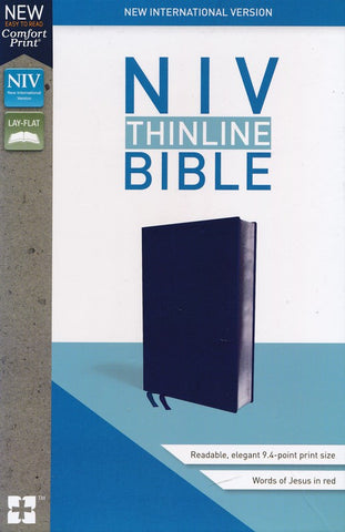 NIV, Thinline Bible, Navy Bonded Leather