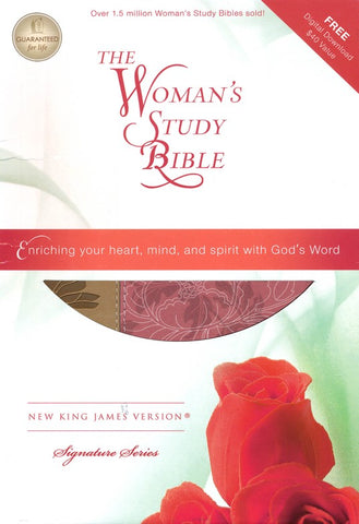 NKJV The Woman's Study Bible, Personal Size, Leathersoft Pink