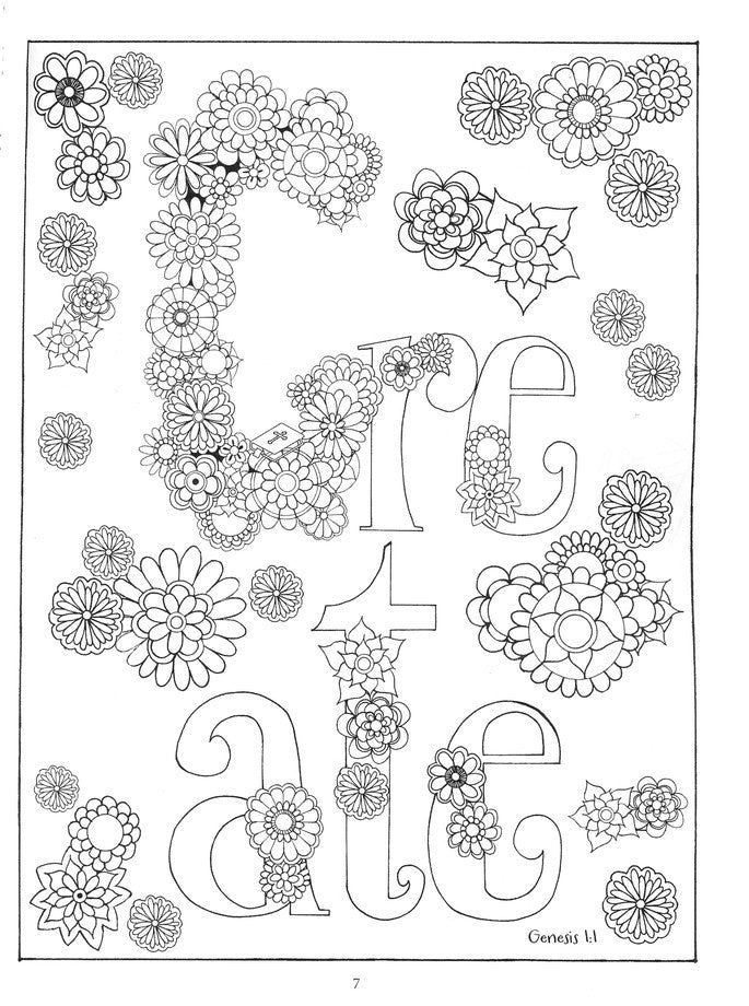 In the Beginning: Coloring Creation - Inspirational Adult Coloring Book