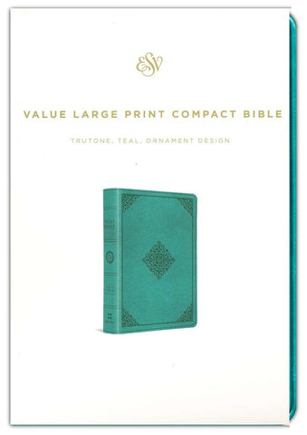 ESV Large Print Compact Bible, TruTone Teal