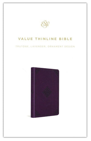 ESV Value Thinline Bible, Leather-look, Lavender with Ornament
