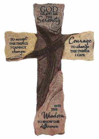 Serenity Prayer, Wall Cross