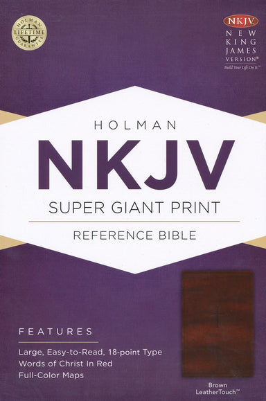 ROCKONLINE | New Creation Church | NCC | Joseph Prince | ROCK Bookshop | ROCK Bookstore | Star Vista | NKJV Super Giant Print Reference Bible | NKJV | Giant Print | LeatherTouch | Free delivery for Singapore Orders above $50.