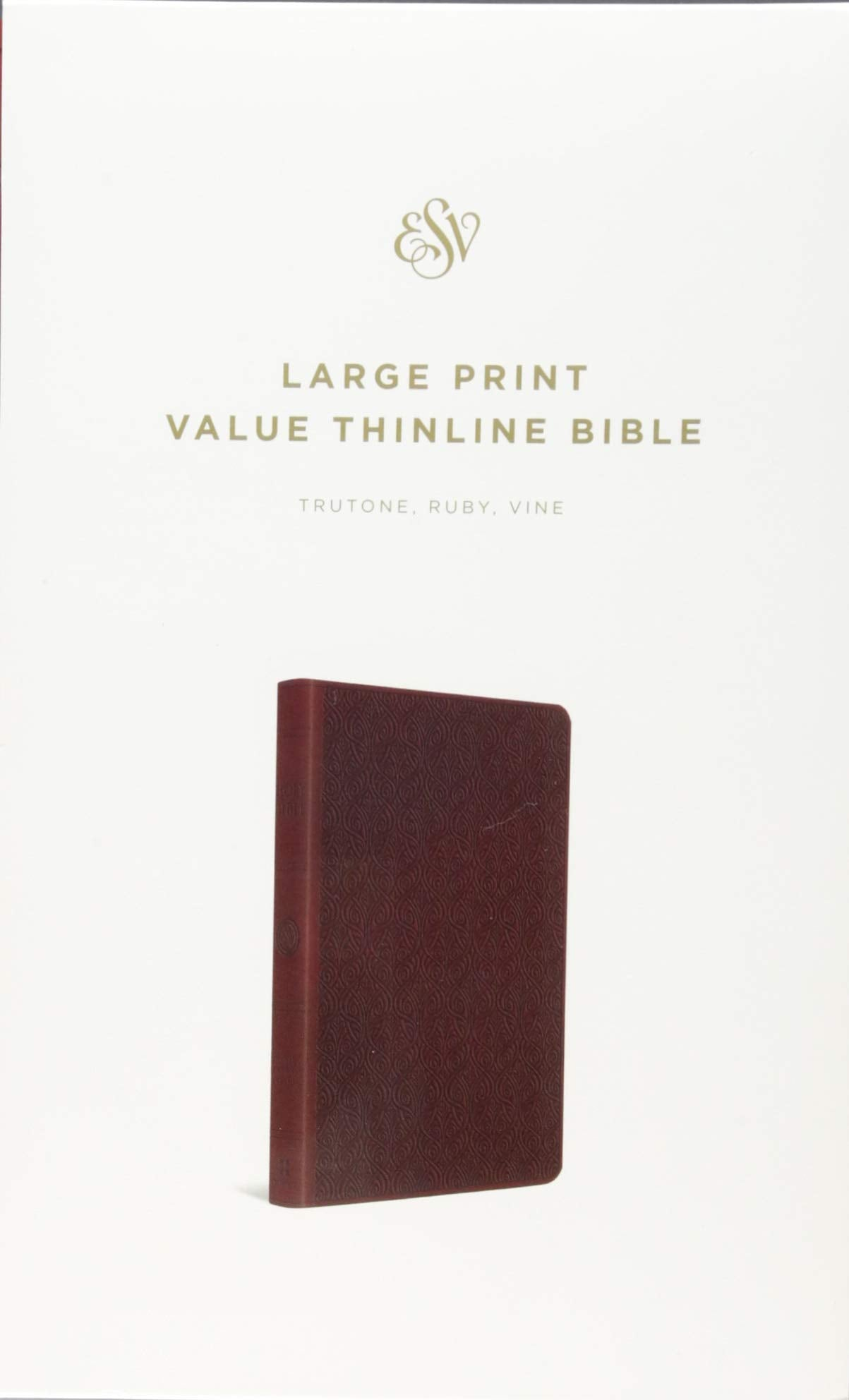 ROCKONLINE | New Creation Church | NCC | Joseph Prince | ROCK Bookshop | ROCK Bookstore | Star Vista | Christian Living | ESV Large Print Value Thinline Bible, TruTone, Ruby, Vine | Free delivery for Singapore Orders above $50.