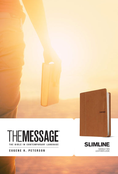 ROCKONLINE | New Creation Church | NCC | Joseph Prince | ROCK Bookshop | ROCK Bookstore | Star Vista | Bibles | Eugene H. Peterson | The Message Bible Slimline Leatherlook, Saddle Tan| Free delivery for Singapore Orders above $50.
