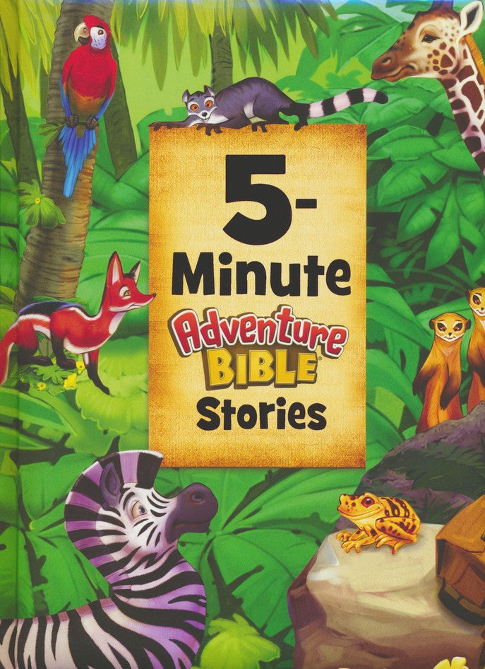ROCKONLINE | New Creation Church | NCC | Joseph Prince | ROCK Bookshop | ROCK Bookstore | Star Vista | Children | Kids | Preschooler | Adventure Bible | Bible Stories | Christian Living | Bible | 5-Minute Adventure Bible Stories | Free delivery for Singapore Orders above $50.