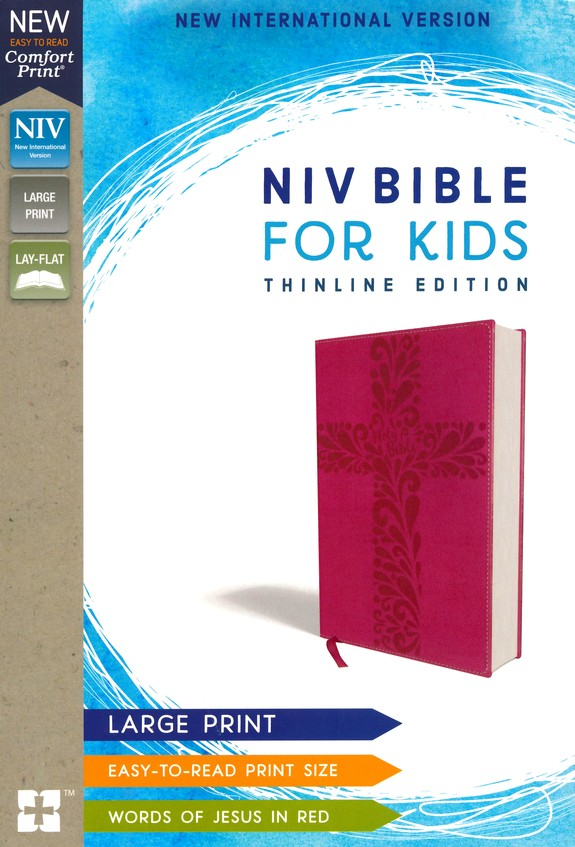 ROCKOnline | New Creation Church | Joseph Prince | Christian Living | Bibles | NIV Bible for Kids, Large Print, Pink Leather