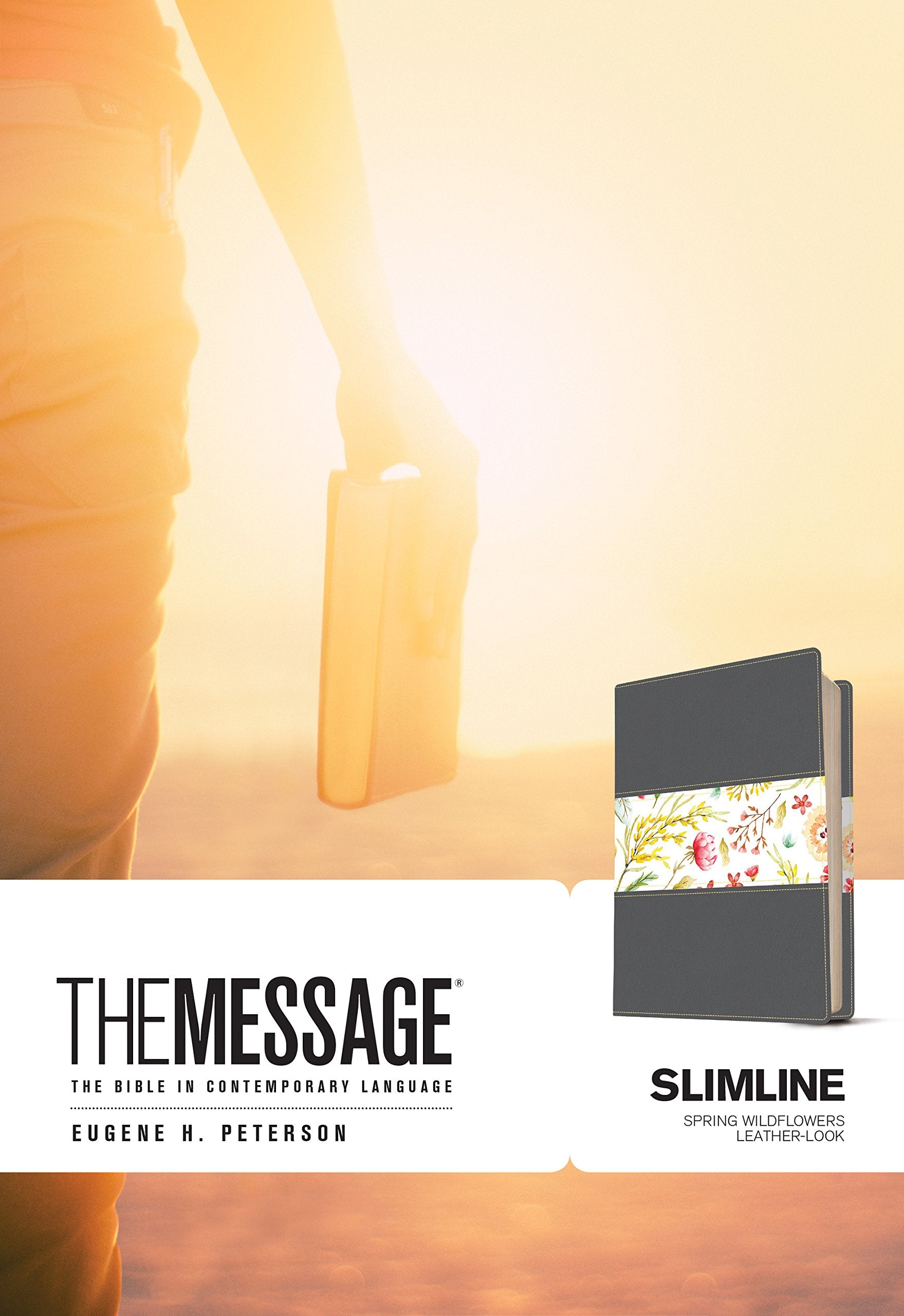 ROCKONLINE | New Creation Church | NCC | Joseph Prince | ROCK Bookshop | ROCK Bookstore | Star Vista | Bibles | Eugene H. Peterson | The Message Slimline, Leather-Look, Spring Wildflowers | Free delivery for Singapore Orders above $50.