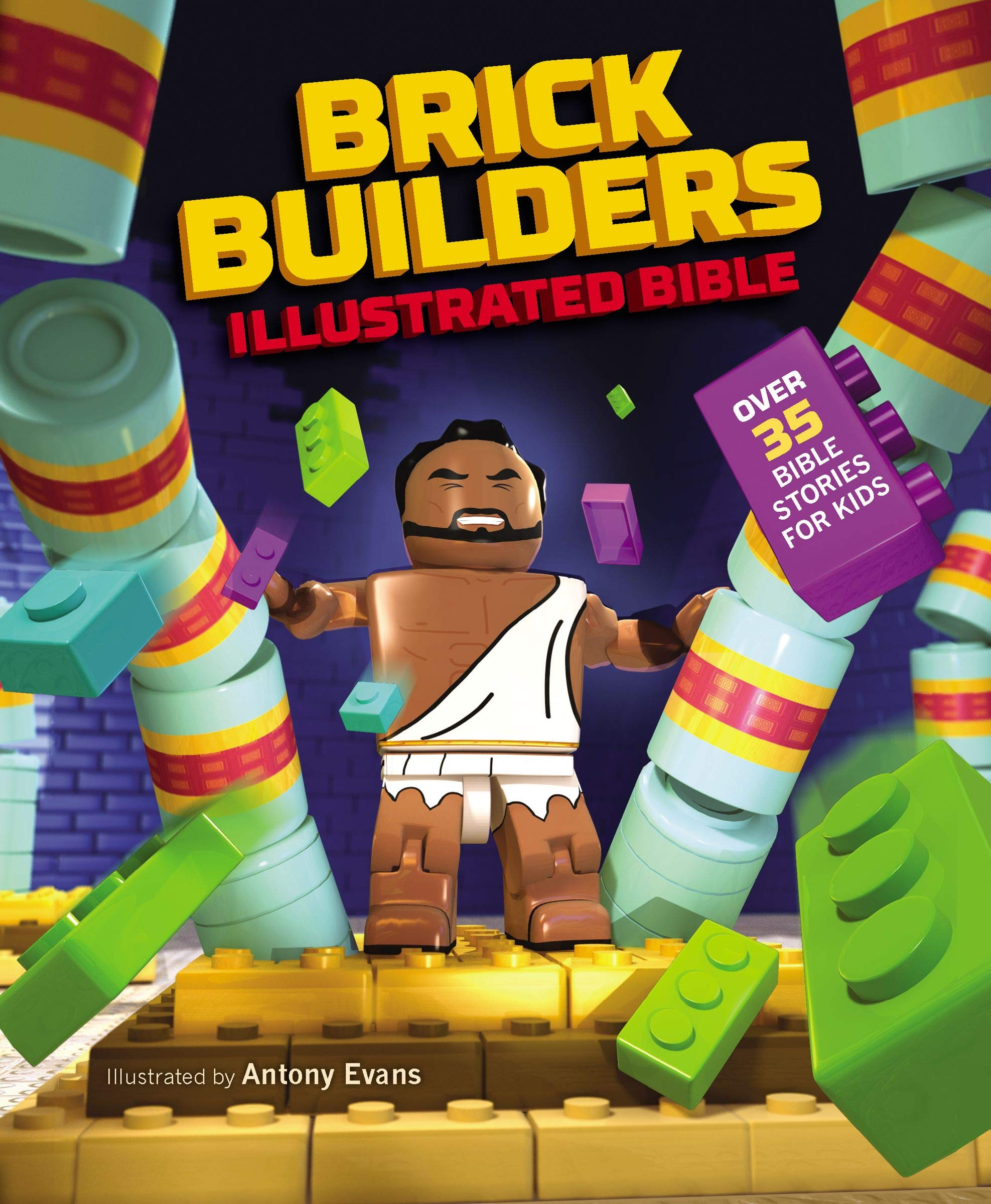 ROCKONLINE | New Creation Church | NCC | Joseph Prince | ROCK Bookshop | ROCK Bookstore | Star Vista | Children | Kids | Bible Story | Illustrated Bible | Christian Living | Boardbook | Bible | Brick Builder's Illustrated Bible, hardcover | Free delivery for SG orders above $50.