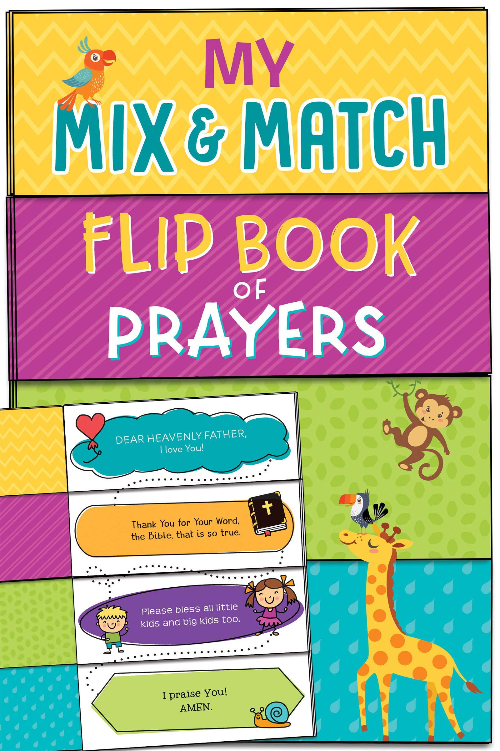ROCKONLINE | New Creation Church | NCC | Joseph Prince | ROCK Bookshop | ROCK Bookstore | Star Vista | Children | Kids | Toddler | My Mix and Match Flip Book of Prayers Boardbook | Free delivery for Singapore Orders above $50.