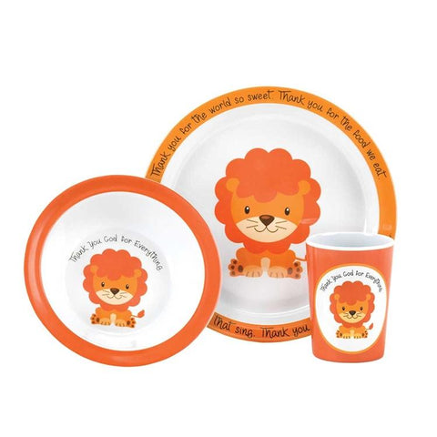 Melamine Dish Set Thank You God For Everything (Lion)