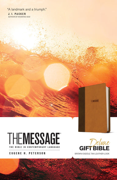 ROCKONLINE | New Creation Church | NCC | Joseph Prince | ROCK Bookshop | ROCK Bookstore | Star Vista | MSG | The Message Gift Bible, Leather-look, Brown/Saddle Tan | Christian Living | Eugene H. PPaterson | Bible | Free delivery for Singapore Orders above $50.