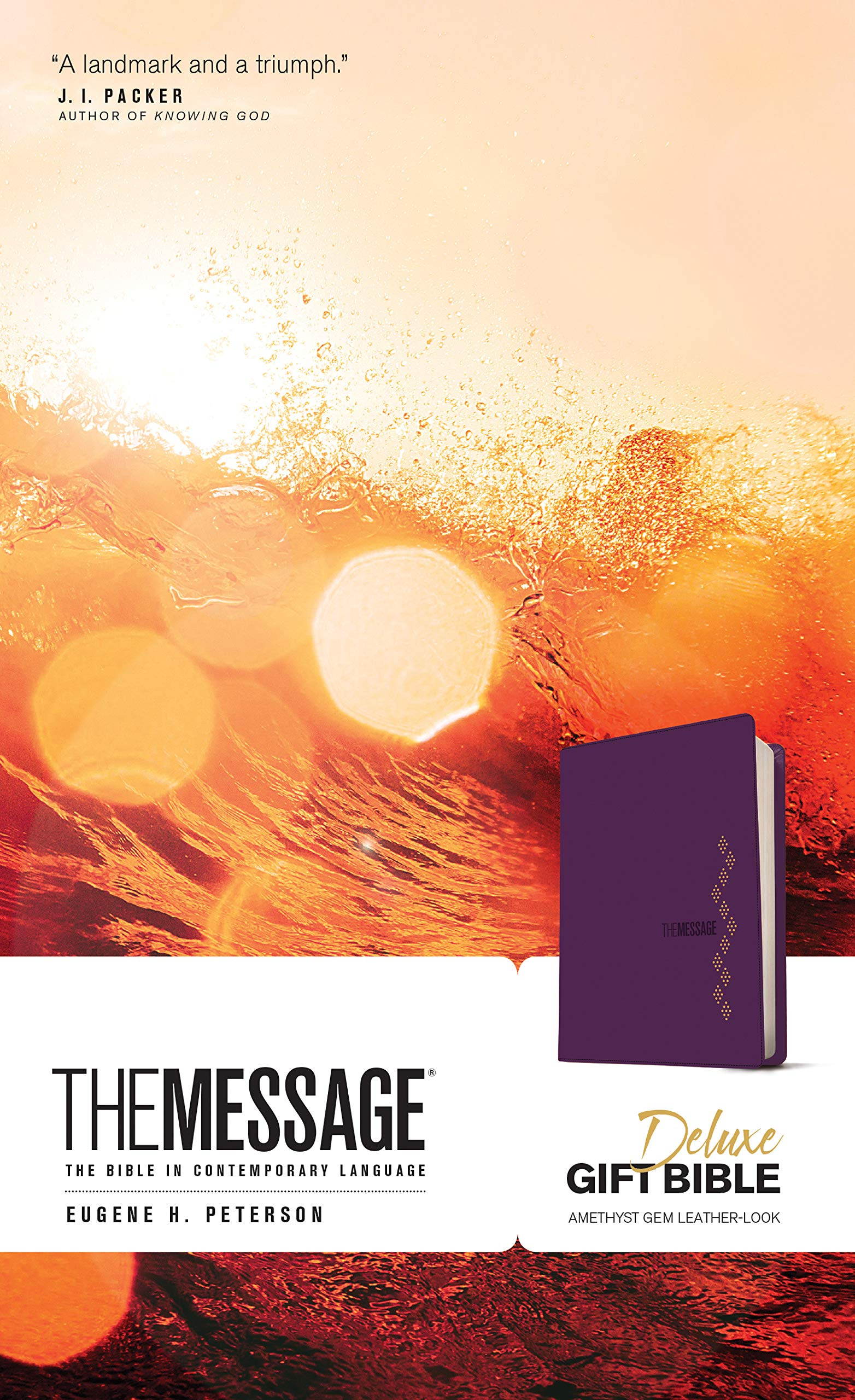 ROCKONLINE | New Creation Church | NCC | Joseph Prince | ROCK Bookshop | ROCK Bookstore | Star Vista | Bibles | Christian Living | Eugene Peterson | Navpress | MSG   The Message Deluxe Gift Bible Leather-Look, Amethyst Gem | Free delivery for Singapore Orders above $50.