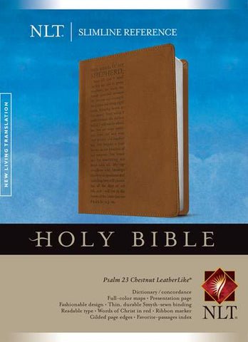 NLT Slimline Reference Bible, Leatherlike