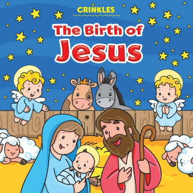ROCKONLINE | New Creation Church | NCC | Joseph Prince | ROCK Bookshop | ROCK Bookstore | Star Vista | Children | Kids | Toddler | Preschooler | Bible Story | Christian Living | Crinkles Cloth Book: The Birth of Jesus | Free delivery for Singapore orders above $50.