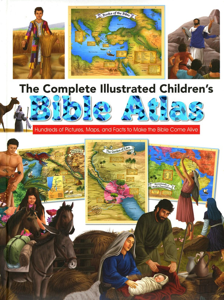 ROCKONLINE | New Creation Church | NCC | Joseph Prince | ROCK Bookshop | ROCK Bookstore | Star Vista | Children | Kids | Illustrated Bible | Atlas | Christian Living | The Complete Illustrated Children's Bible Atlas, Hardcover | Free delivery for Singapore Orders above $50.