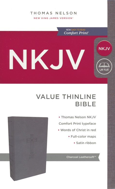 ROCKONLINE | New Creation Church | NCC | Joseph Prince | ROCK Bookshop | ROCK Bookstore | Star Vista | NKJV | Thinline Bible | NKJV Value Thinline Bible Charcoal Leathersoft | Free delivery for Singapore Orders above $50.
