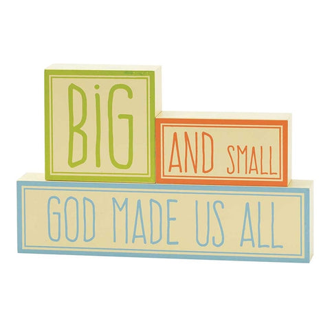 Singapore | Lifestyle | Christian Gifts | Children | Home Decor | Nursery | Tabletop Block Plaque | Tabletop Blocks – God Made Us All