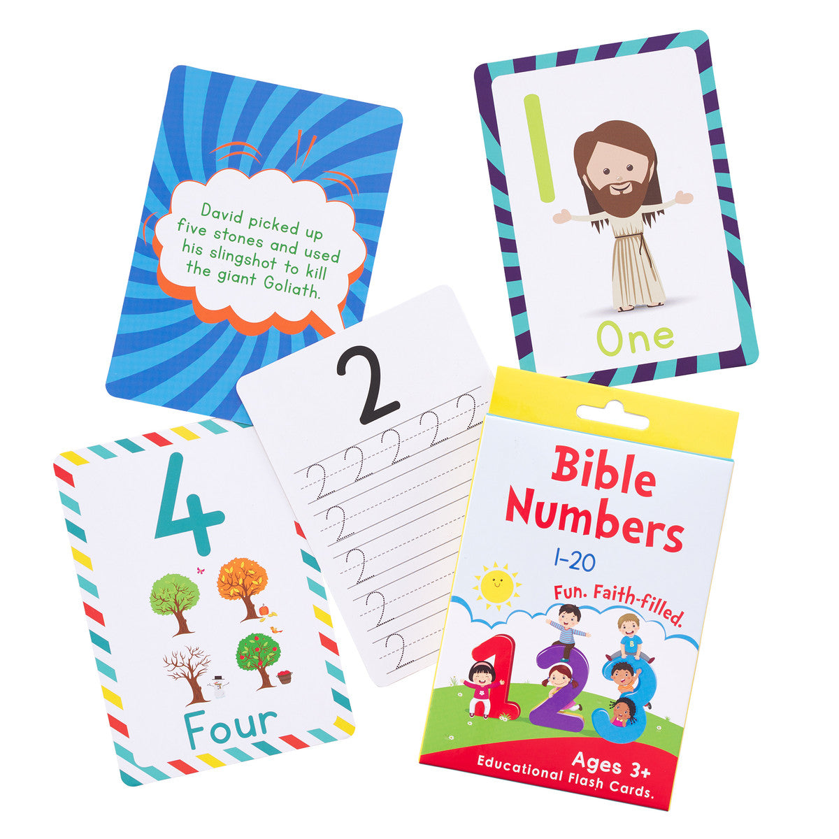 ROCKONLINE | New Creation Church | NCC | Joseph Prince | ROCK Bookshop | ROCK Bookstore | Star Vista | Children | Kids | Bible Numbers Boxed Cards for Kids | Scriptures | Bible | Free delivery for Singapore Orders above $50.