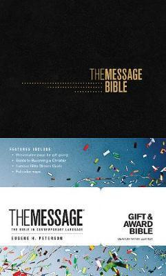 The Message Gift and Award Bible, Black