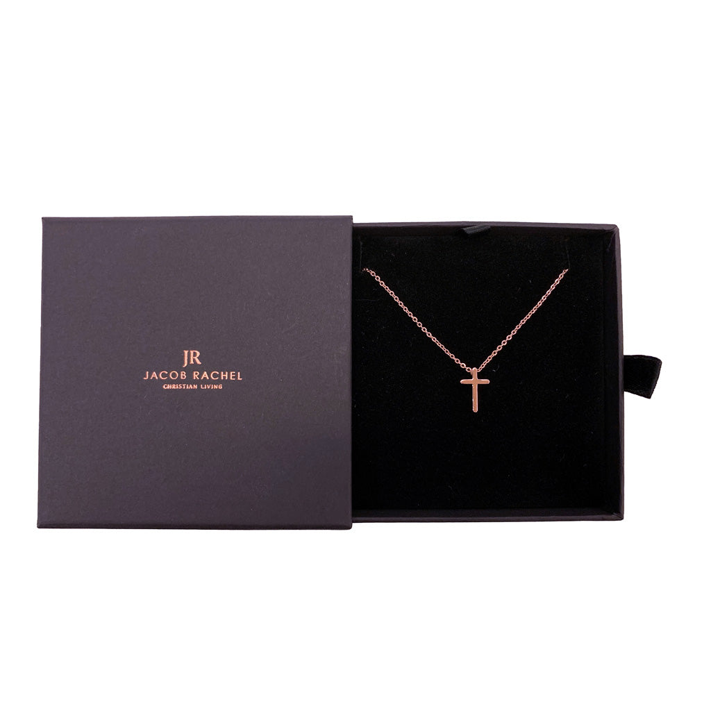 ROCKONLINE | New Creation Church | NCC | Joseph Prince | ROCK Bookshop | ROCK Bookstore | Star Vista | Lifestyle | Mothers | Ladies | Gift | Necklace | Earrings | Bangle | Scriptures | Mini Cross Pendant Necklace Rose Gold  by Jacob Rachel | Free delivery for Singapore Orders above $50.