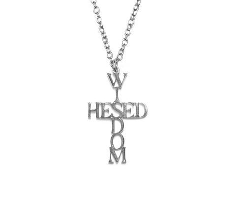 Hesed Wisdom Cross Bar Pendant