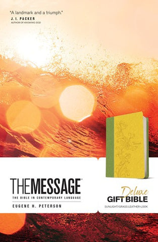 The Message Deluxe Gift Bible (Leather-Look, Sunlight/Grass)