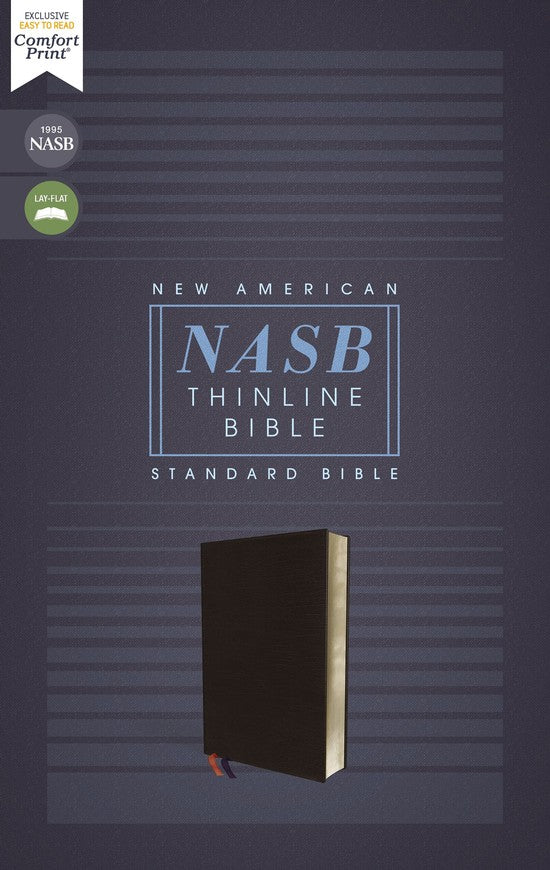 ROCKONLINE | New Creation Church | NCC | Joseph Prince | ROCK Bookshop | ROCK Bookstore | Star Vista | NASB | Bonded Leather Black | NASB Comfort Print Thinline  | Thinline Bible | Free delivery for Singapore Orders above $50.